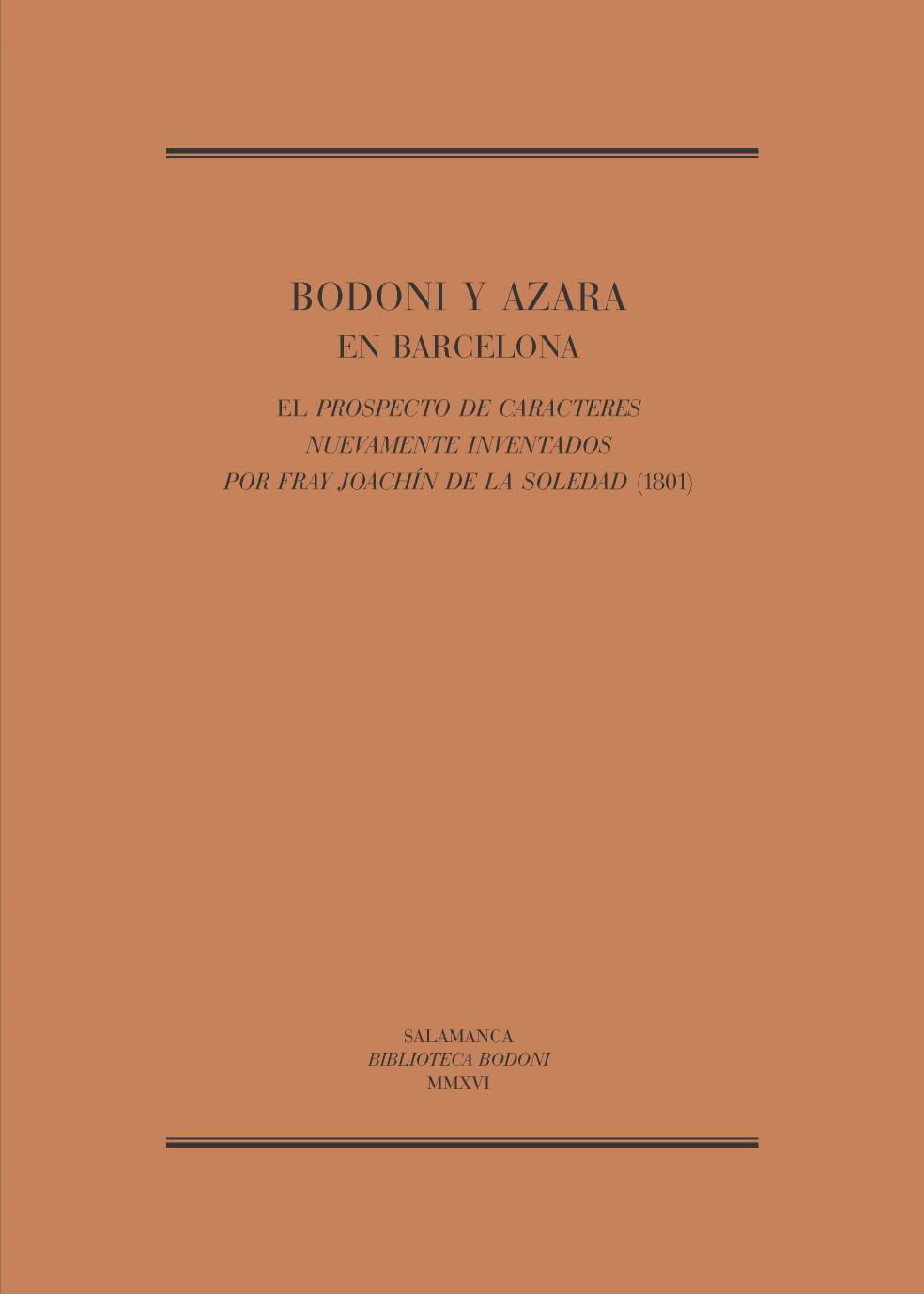 Bodoni y Azara en Barcelona