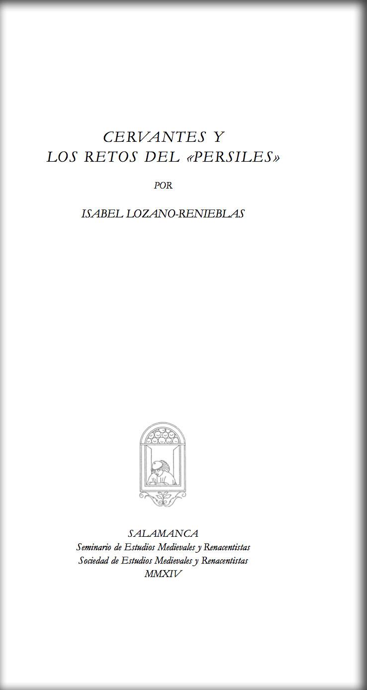 """Cervantes y los retos del """"Persiles"""""""